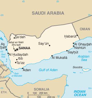 Kartenskizze Jemen
