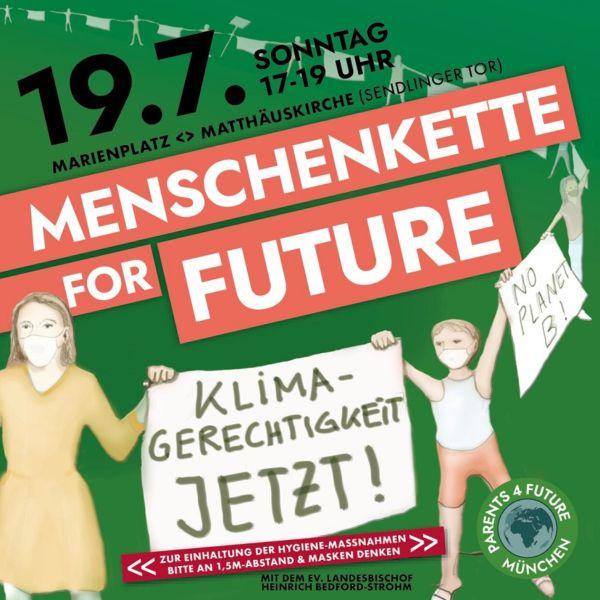 Menschenkette fürs Klima 19.7.2020